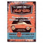 Auto Retro - Affiche concentration voitures Dinard